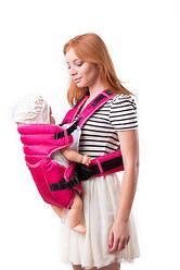 Кенгуру-рюкзак Умка №12 с поддержкой на талии малиновый