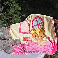 Плед детский мягкий двухсторонний (микрофибра утепленная) 100х100 см, Цвет 6, фото 1