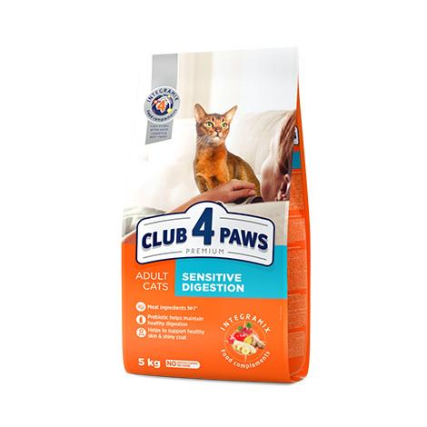 """Сухой корм для кошек Клуб 4 Лапи PREMIUM """"Sensitive. Чувствительное пищеварение """" 14 кг."""