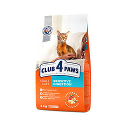 """Сухий корм для кішок Клуб 4 Лапи PREMIUM """"Sensitive. Чутливе травлення """" 14 кг."""