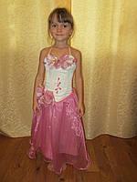 Платье для утренника бело-розовое, прокат в Харькове