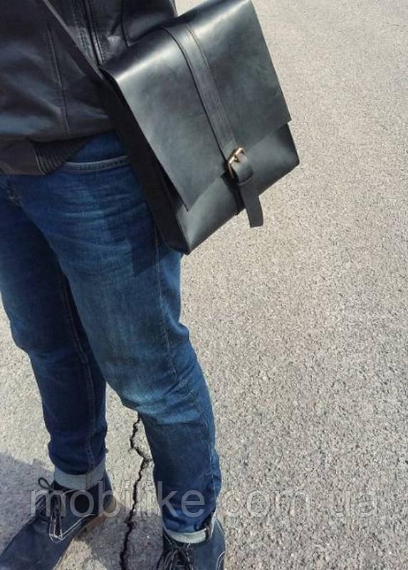 Мужская сумка через плечо (Чёрный)
