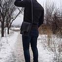 Мужская сумка через плечо (Чёрный), фото 4