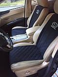"""Накидки на сиденье """"Эко-замша"""" узкие (1+1) без лого, цвет черный, фото 2"""