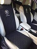 """Накидки на сиденье """"Эко-замша"""" узкие (1+1) без лого, цвет черный, фото 3"""