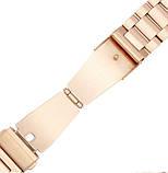Металевий ремінець Primo для годин Samsung Gear S2 Classic SM-R732/R735 - Rose Gold, фото 4