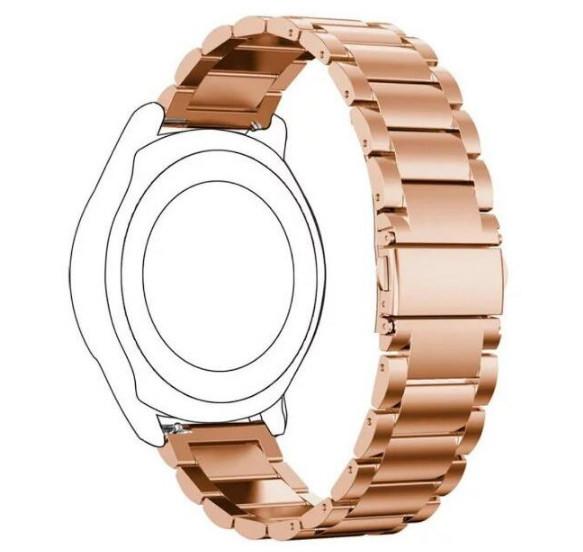 Металевий ремінець Primo для годин Samsung Gear S2 Classic SM-R732/R735 - Rose Gold