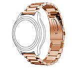Металевий ремінець Primo для годин Samsung Gear S2 Classic SM-R732/R735 - Rose Gold, фото 2