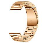 Металевий ремінець Primo для годин Samsung Gear S2 Classic SM-R732/R735 - Rose Gold, фото 3