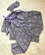 """Байковый женский комплект для сна """"MI-MI"""" с маской (2 цвета), фото 3"""