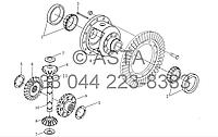 Задняя коробка передач - Дифференциал на YTO X1204