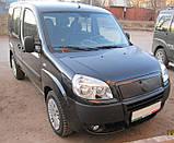 Зимняя накладка (матовая) Fiat Doblo 2006-2012 (верх), фото 3