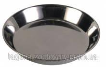 Неглубокая миска 0.2л/13см  металлическая для собак и кошек