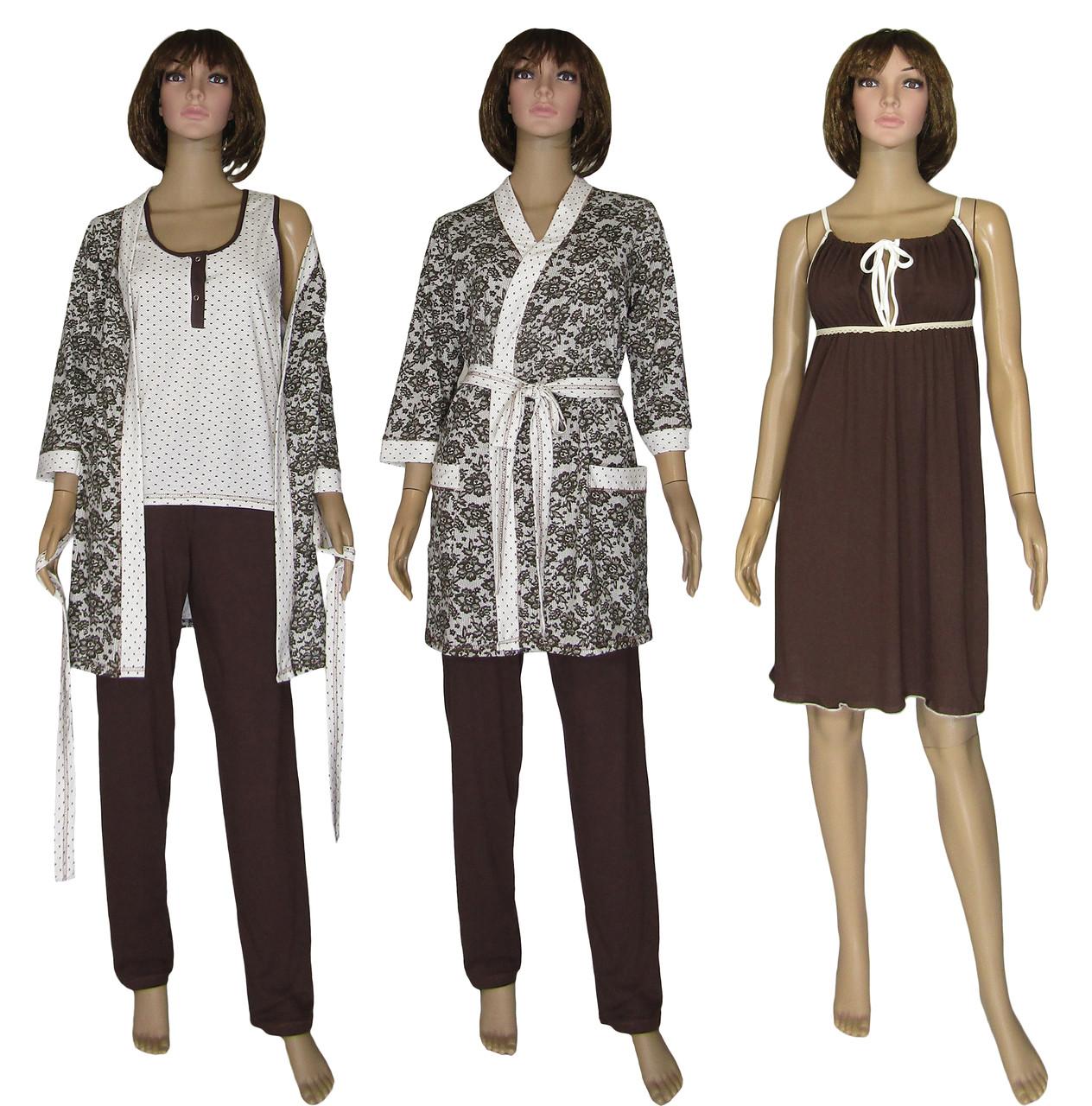 Ночная рубашка, пижама с брюками и халат 18077 MindViol Slivki Agure