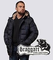 Мужская куртка на зиму Braggart 26402 сине-черный, фото 1