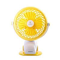 Remax (OR) Portable USB Mini Fan 360° (F2) Yellow