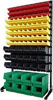 Стеллаж односторонний 1500-1 с цветными ящиками