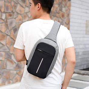 Рюкзак Bobby Mini антивор, школьный ранец через плечо с USB-выходом