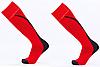 Гетры футбольные юниорские, полиэстер, p-p 32-39, красный (KS-04M-(rdb))