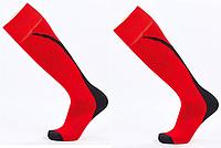 Гетры футбольные юниорские, полиэстер, p-p 32-39, красный (KS-04M-(rdb)), фото 1
