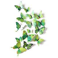 Зеленые бабочки для декора., фото 1