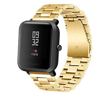 Металлический ремешок Primo для часов Xiaomi Amazfit Bip / Amazfit Bip GTS / Amazfit Bip Lite - Gold