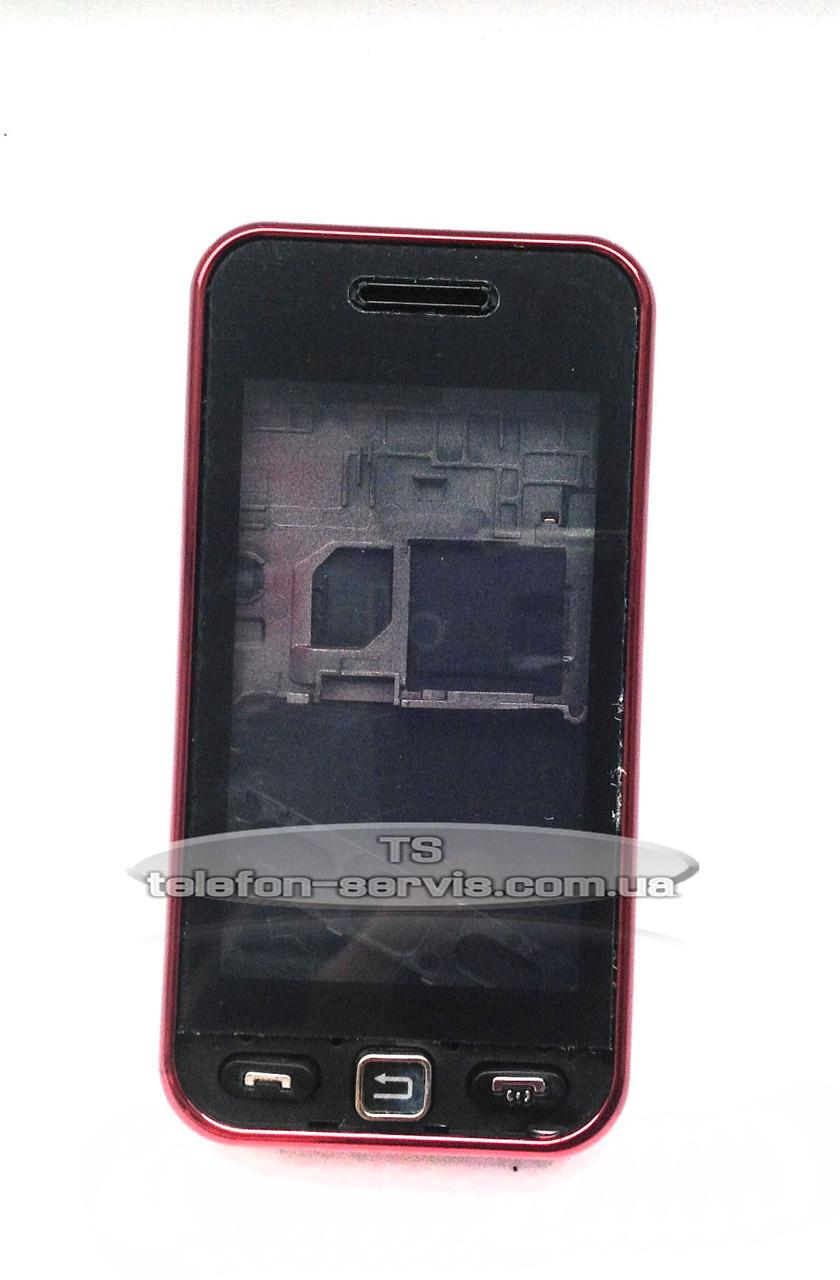 Корпус Samsung S5230 Star, бордовий, копія ААА, з орнаментом