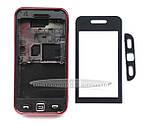 Корпус Samsung S5230 Star, бордовий, копія ААА, з орнаментом, фото 3