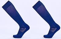 Гетры футбольные юниорские, полиэстер, p-p 32-39, темно-синий (KS-02M-(dbl)), фото 1