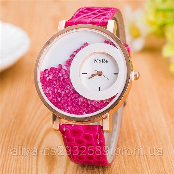 Часы женские наручные Crystal в розовом цвете
