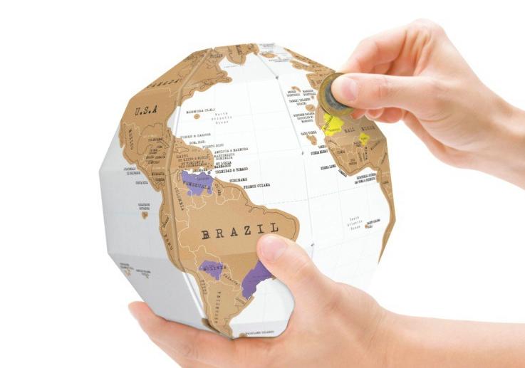 Podarki Скреч Карта Мира Земной Шар