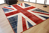 Безворсовый износоустойчивый ковер британский флаг , фото 2