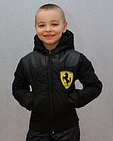 Курточка на мальчика демисезонная черная, фото 1