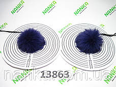 Меховой помпон Кролик, Фиолет, 6 см, пара 13863, фото 3