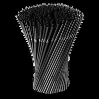Трубочка для коктейля с изгибом черная 240 мм / 210 шт