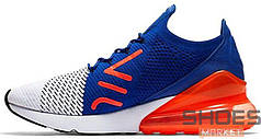 "Мужские кроссовки Nike Air Max 270 Flyknit ""Ultramarine & Solar Red"" White"