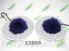 Меховой помпон Кролик, Фиолет, 8 см, пара 13866, фото 3