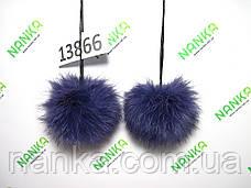 Меховой помпон Кролик, Фиолет, 8 см, пара 13866, фото 2