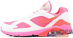 Женские кроссовки Nike Air Max 180 X Comme dse Garcones CDG Laser Pink White