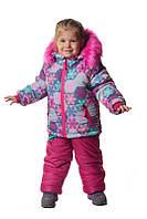 Зимняя куртка и полукомбинезон на девочку Снежинка 98 р