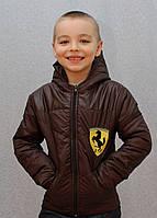 Курточка на мальчика демисезонная коричневая, фото 1