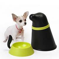 Контейнер + миска для собаки Pupp Qualy Черный