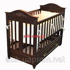 Дитяче ліжечко Woodman Leonardo, колір - шоколад.