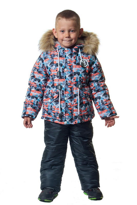 Зимний комбинезон с курткой на мальчика LED 86-104 р
