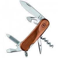 Нож Складной Мультитул Викторинокс Victorinox EVOWOOD 10 (85мм, 11 функций), дерево 2.3801.63