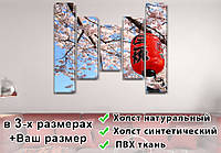 Модульные триптих картины, на ПВХ ткани, 80x100 см, (80x18-2/55х18-2/40x18)