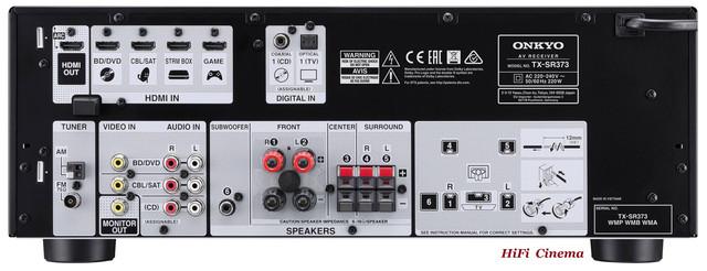 Onkyo TX-SR373 connect terminal