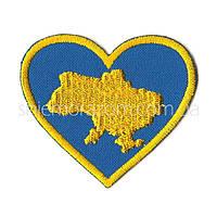 Нашивка шеврон карта Украина сердце