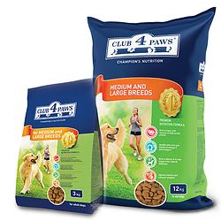 Сухой корм для собак средних и больших пород Клуб 4 Лапи PREMIUM14 кг.