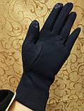 Бархатные+трикотаж Сенсорны женские перчатки ля работы на телефоне плоншете Anna-мода только оптом, фото 5